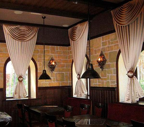 Шторы для кафе, баров и ресторанов