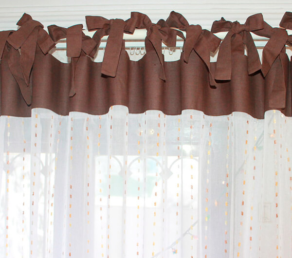 Пошив штор на завязках