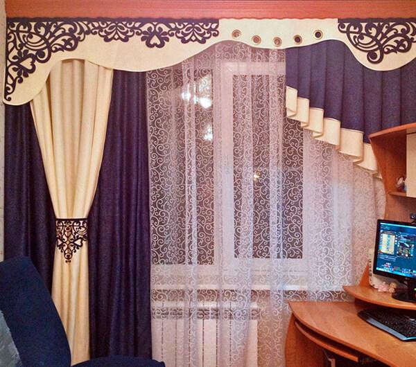 Пошив асимметричных штор