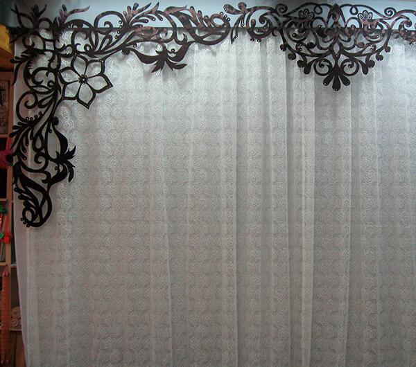 Пошив штор с ажурными ламбрекенами