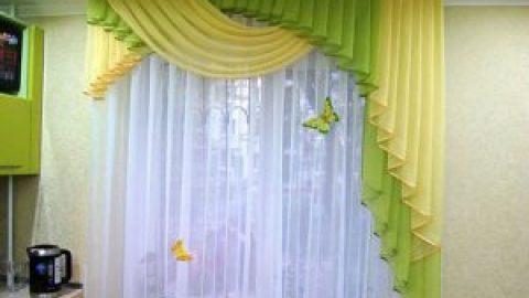 Как пошить шторы из тюля