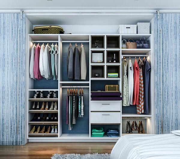 Пошив штор в гардеробную