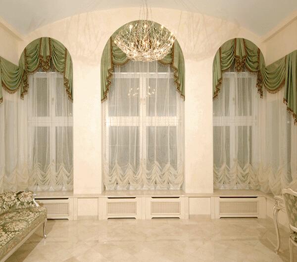 Пошив штор для холла