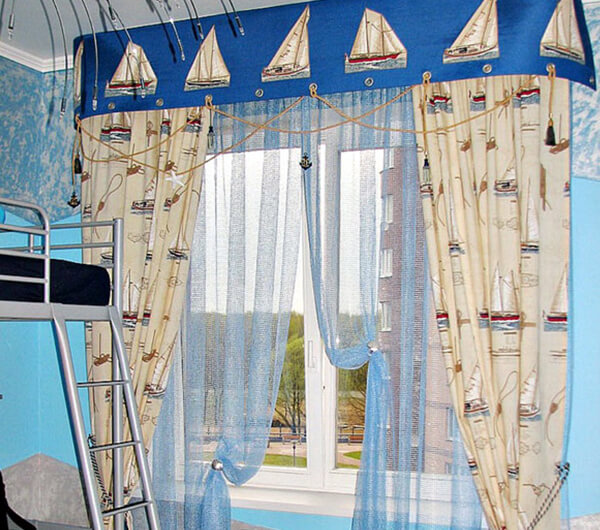 Пошив штор в морском стиле