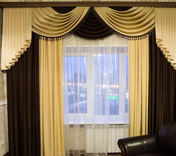 Пошив шелковых штор