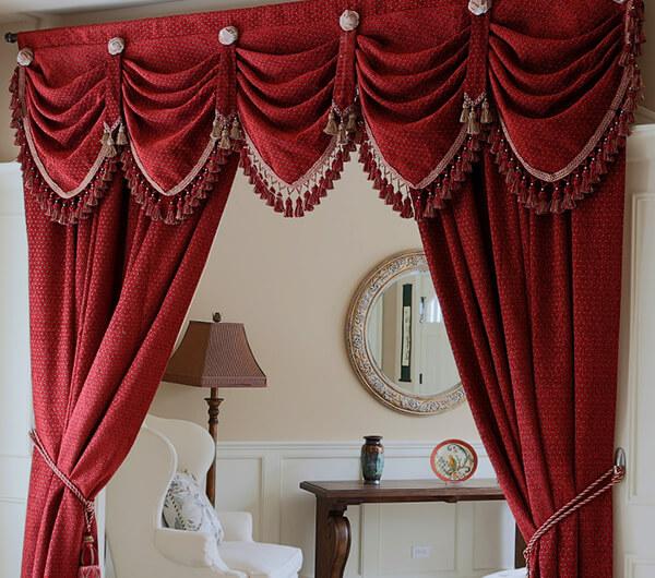 Пошив штор с бахромой