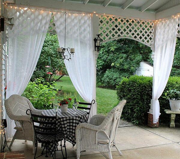 Пошив штор для зимнего сада