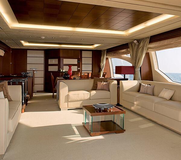 Пошив штор для яхты