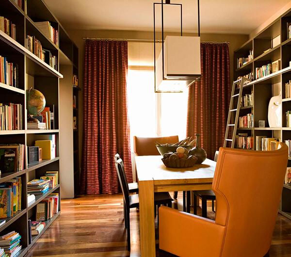 Пошив штор для библиотеки