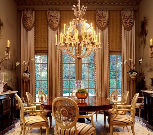Пошив штор в викторианском стиле