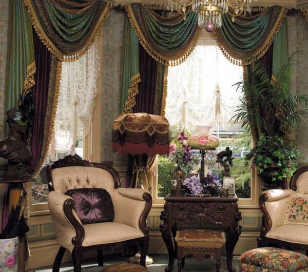 Пошив штор в романском стиле
