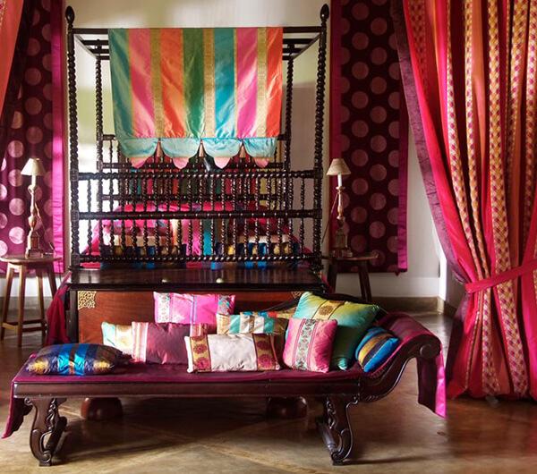 Пошив штор в восточном стиле
