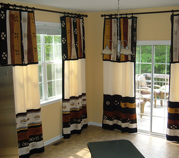Пошив штор в африканском стиле
