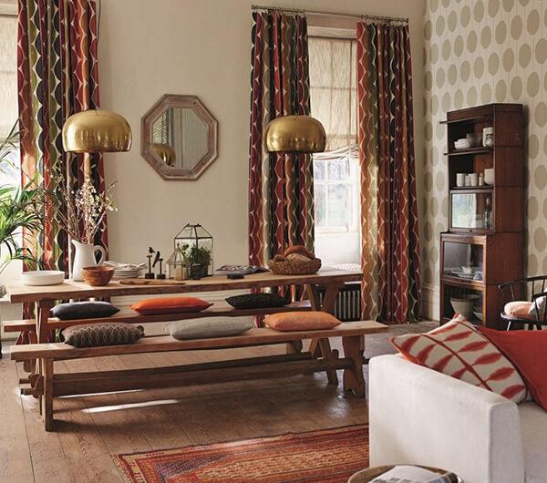 Пошив штор в этническом стиле