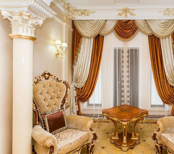 Пошив дворцовых штор