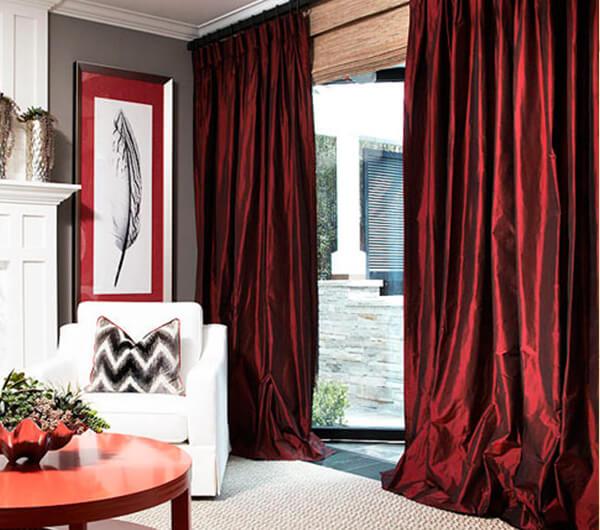 Пошив штор из тафты