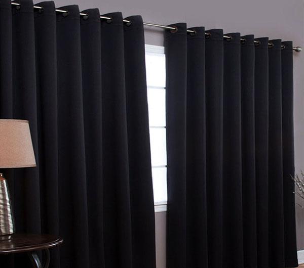 Пошив штор серого цвета