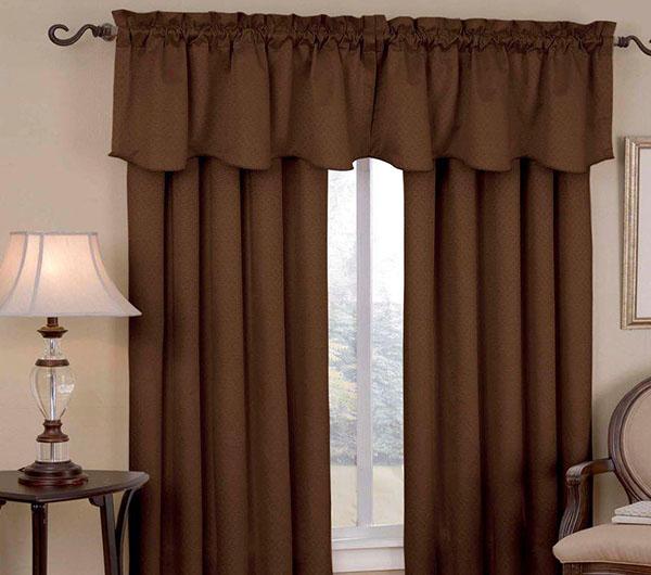 Пошив штор шоколадного цвета