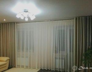 Светлые шторы для зала (фото 2). Адрес: Мосфильмовская, 55