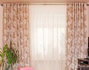 Классические шторы на люверсах (фото 3). Адрес: Стрельбищенский переулок, 8